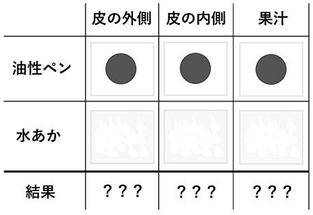 実験結果のまとめ表