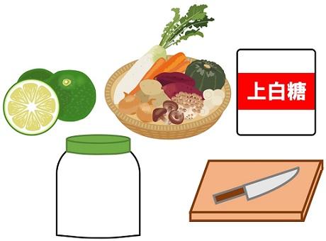 酵素シロップ作りの準備物