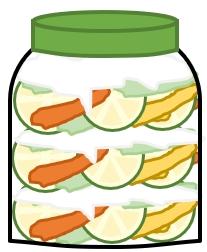 酵素シロップ作り ビン詰め工程