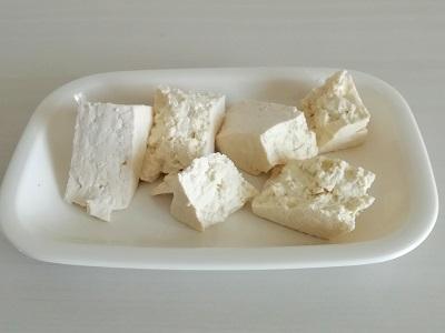 カボスチャンプルー豆腐工程3