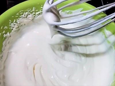 ホイップクリーム完成
