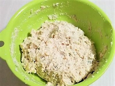 豆腐ハンバーグこねあがり