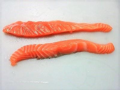 鮭切り分け